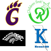 The four participating school districts logos.